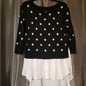Polka dot women's sweater